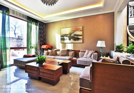 热门139平方混搭别墅客厅装修实景图片欣赏