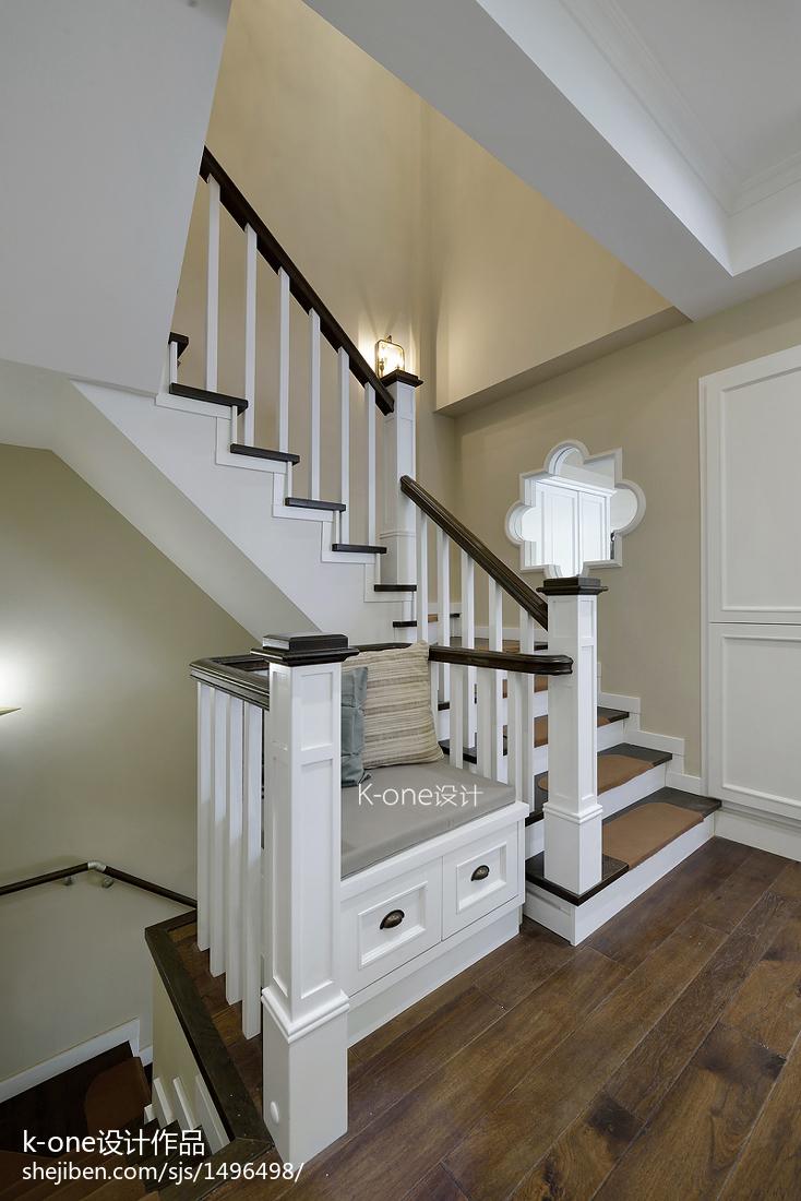 典雅么事风格楼梯装修美式经典设计图片赏析