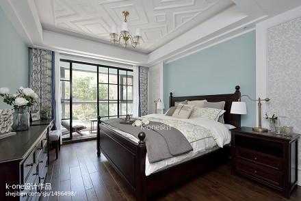 精美123平米美式别墅卧室装修图卧室