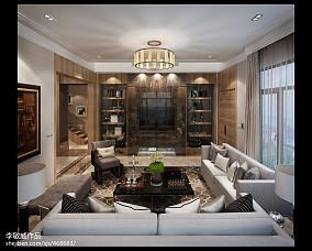 热门121平米现代别墅客厅装修实景图片欣赏
