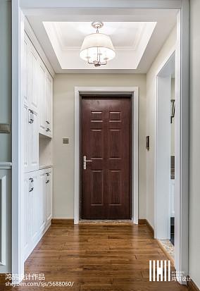 家居美式风格玄关效果图三居美式经典家装装修案例效果图