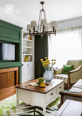 精美99平米三居客厅美式装修图片欣赏三居美式经典家装装修案例效果图