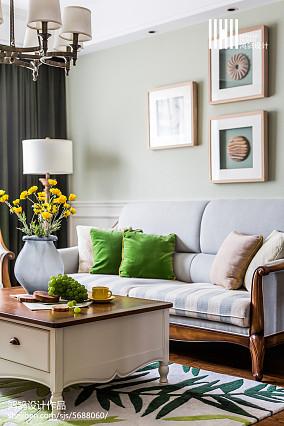 精选大小98平美式三居客厅装修图片大全三居美式经典家装装修案例效果图