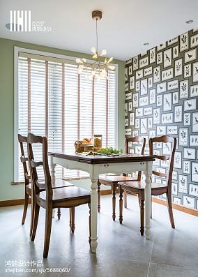 精美92平米三居餐厅美式装修图片三居美式经典家装装修案例效果图