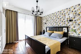 精美97平米三居卧室美式效果图三居美式经典家装装修案例效果图
