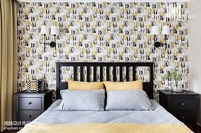 温馨88平美式三居卧室装修效果图三居美式经典家装装修案例效果图