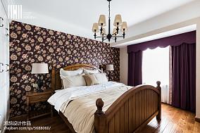 精选106平米三居卧室美式装饰图片三居美式经典家装装修案例效果图