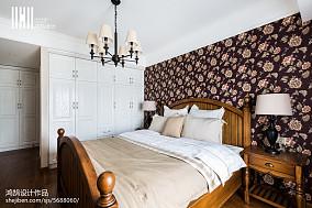 精选面积92平美式三居卧室欣赏图片三居美式经典家装装修案例效果图