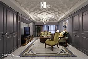 简洁160平美式三居装潢图