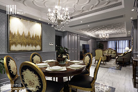 2018面积105平美式三居餐厅装修效果图片大全