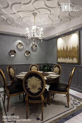 面积93平美式三居餐厅欣赏图片