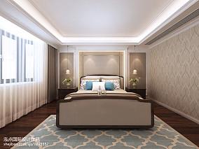 美式休闲清新卧室装修效果图