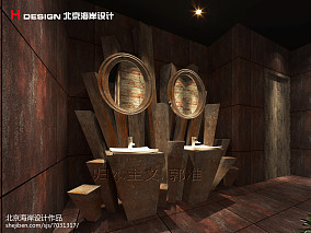 中式办公室装修图片
