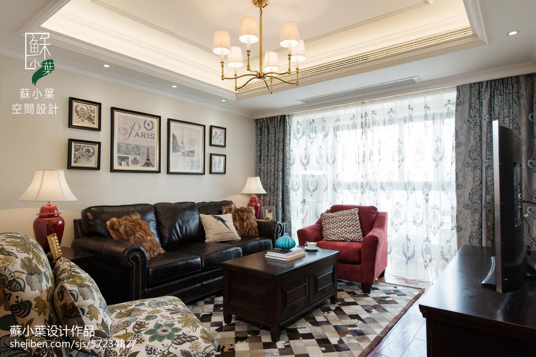 清新美式风格客厅装修客厅美式经典客厅设计图片赏析