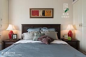 质朴76平美式二居卧室装饰图片卧室美式经典设计图片赏析