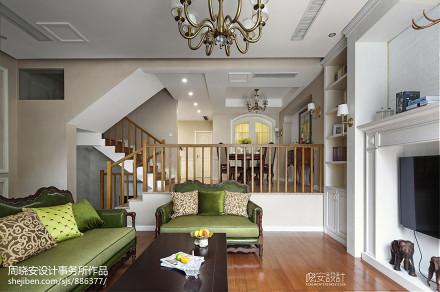 浪漫240平美式别墅实拍图别墅豪宅美式经典家装装修案例效果图