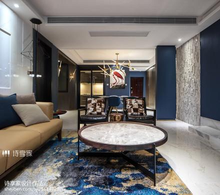 摩登现代风格客厅装饰图四居及以上现代简约家装装修案例效果图