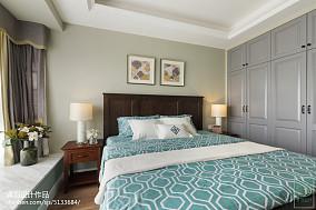 华丽94平美式三居卧室装修图片