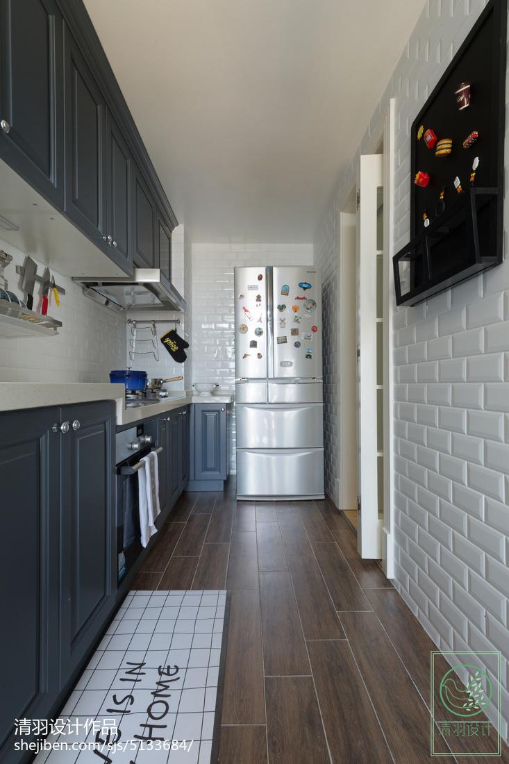 明亮114平美式三居厨房案例图餐厅美式经典厨房设计图片赏析