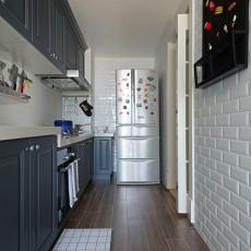 明亮114平美式三居厨房案例图