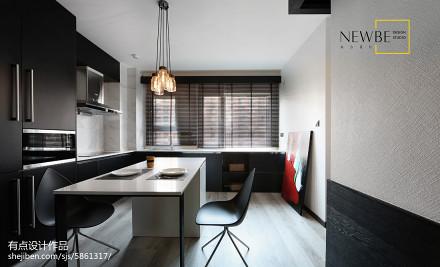 201877平方二居餐厅现代效果图片欣赏二居现代简约家装装修案例效果图