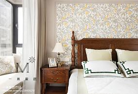 精美面积74平美式二居卧室效果图片欣赏二居美式经典家装装修案例效果图