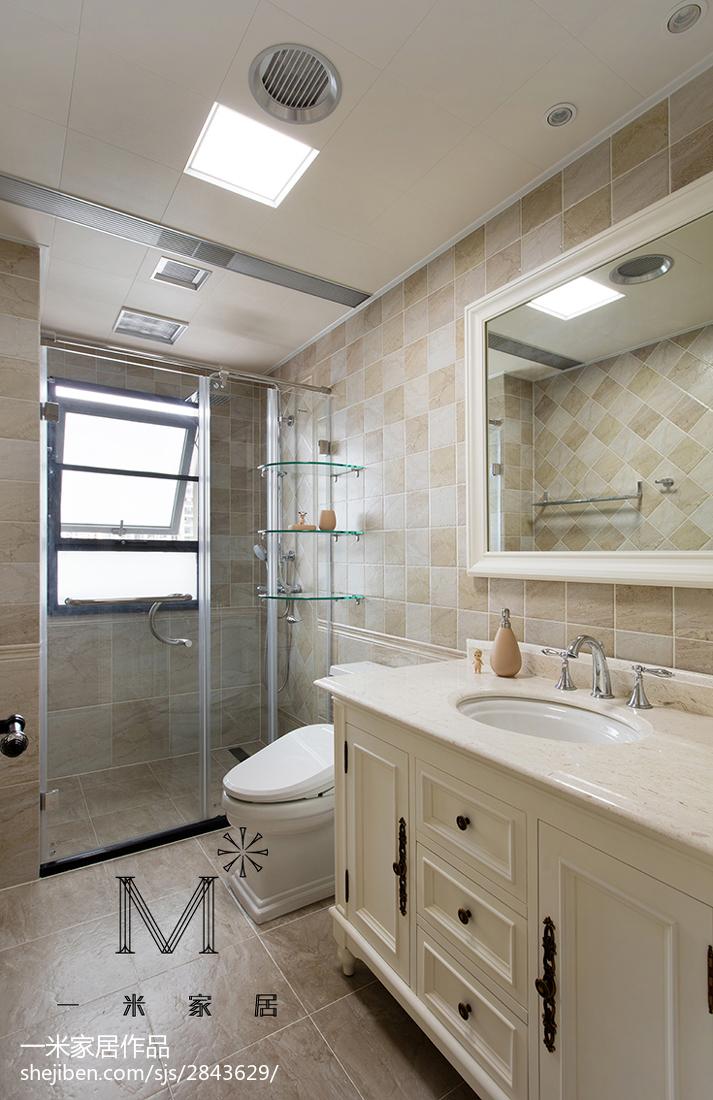 现代美式风格卫浴装修卫生间美式经典卫生间设计图片赏析