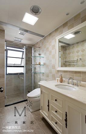 现代美式风格卫浴装修二居美式经典家装装修案例效果图