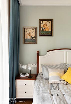 温馨80平美式二居卧室装潢图二居美式经典家装装修案例效果图