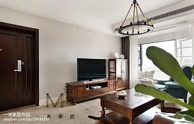 2018美式二居客厅效果图片大全二居美式经典家装装修案例效果图