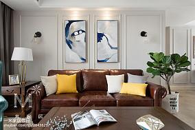平米二居客厅美式装修效果图片二居美式经典家装装修案例效果图