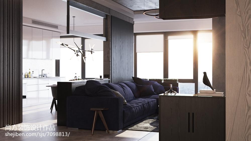 悠雅32平LOFT小户型客厅装饰图客厅1图潮流混搭客厅设计图片赏析