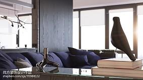 质朴33平LOFT小户型客厅装修案例