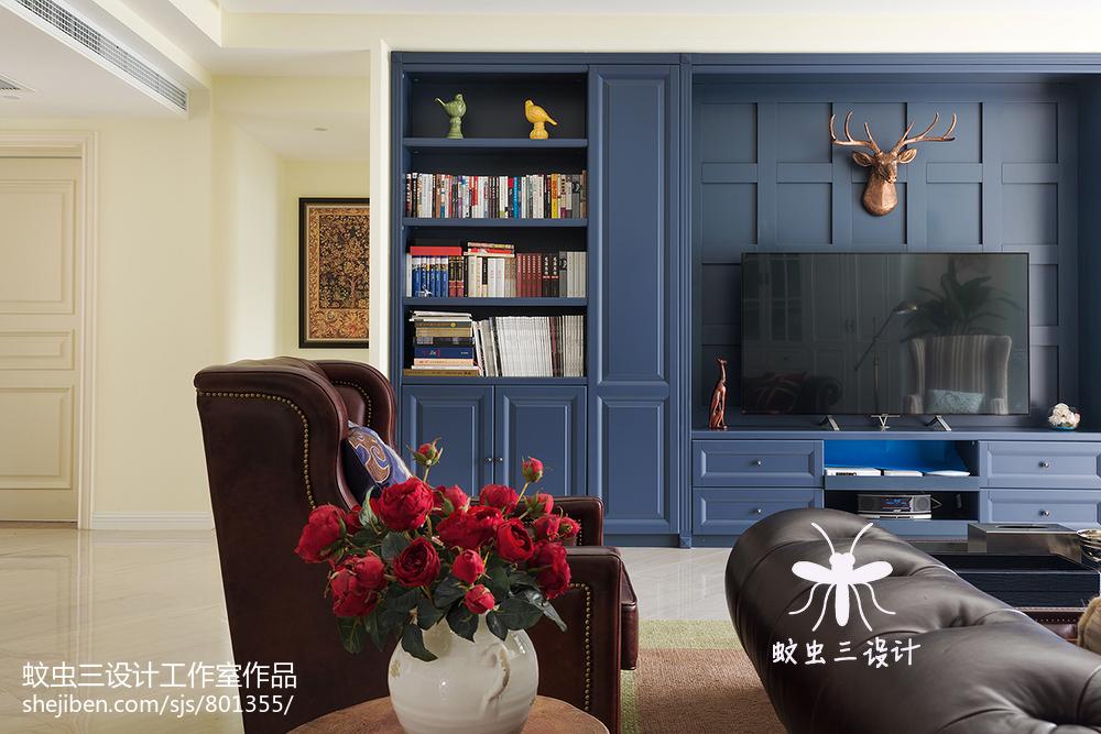 平方四居客厅美式装修实景图客厅
