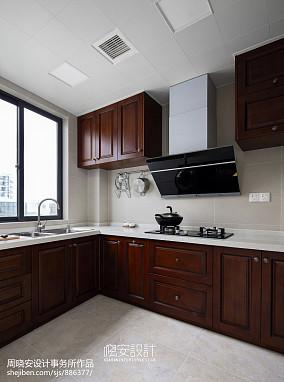 质朴100平美式四居厨房布置图