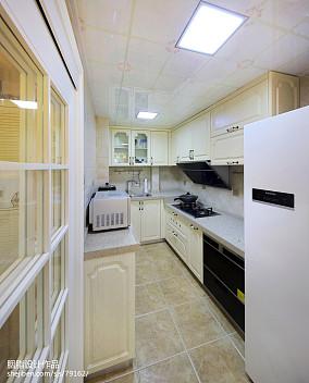93平米三居厨房美式装修效果图