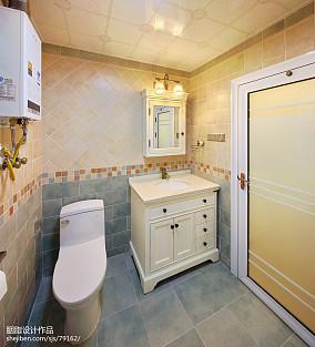 美式三居卫生间装修效果图片欣赏