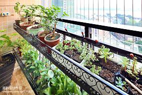 温馨78平美式三居阳台装饰美图阳台设计图片赏析