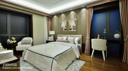 面积140平别墅卧室混搭装修设计效果图片大全