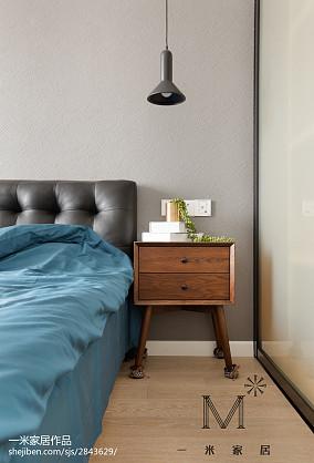 精选面积83平小户型卧室北欧装修实景图片一居北欧极简家装装修案例效果图