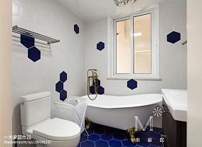 平米北欧小户型卫生间效果图片欣赏一居北欧极简家装装修案例效果图