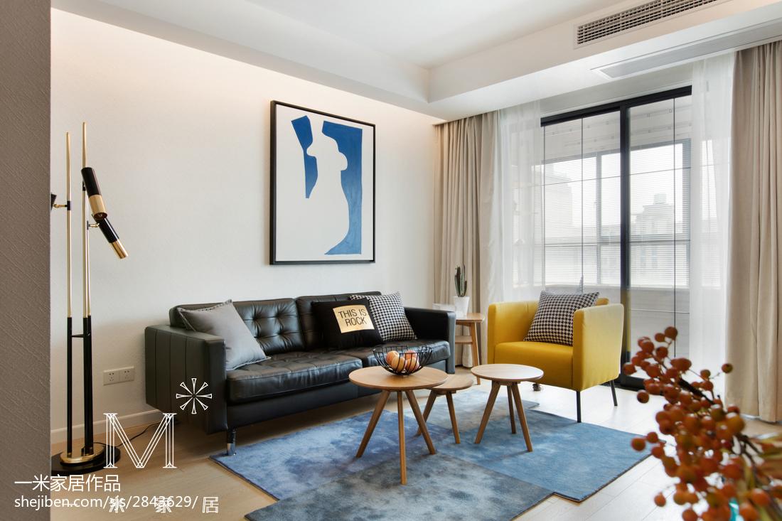 轻奢23平北欧小户型装饰图片客厅北欧极简客厅设计图片赏析