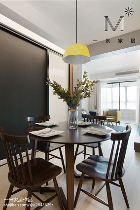 精美面积73平小户型餐厅北欧装修效果图片一居北欧极简家装装修案例效果图