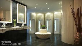 时尚现代别墅室内圆床图片