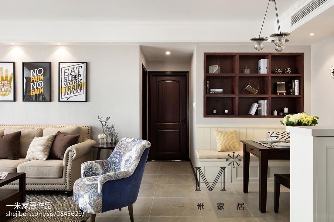 精美面积91平美式三居过道装修图片大全客厅美式经典客厅设计图片赏析