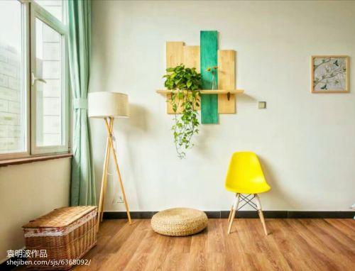 精选复式休闲区田园装饰图卧室木地板美式田园家装装修案例效果图