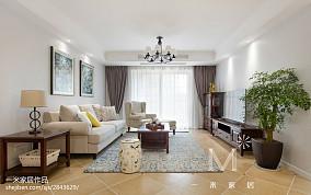 精美大小91平美式三居客厅效果图片大全