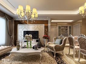 新古典风都市化三居室装修效果图