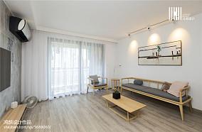 精美96平米三居客厅简欧装修实景图片欣赏三居北欧极简家装装修案例效果图