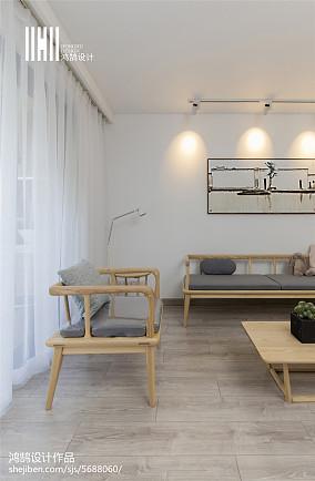 精选三居客厅简欧实景图三居北欧极简家装装修案例效果图